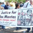 Supporters of Carlos Montes march May 1